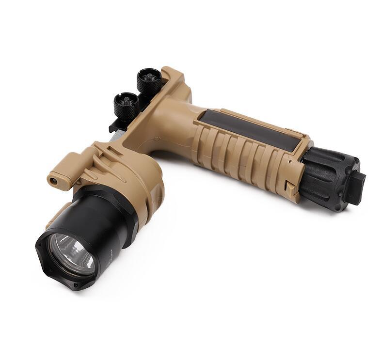 Tactical M910 flashlight grip white LED light flashlight laser outdoor hunting CS toy front grip AR tactics airsoft 20mm rail foregrip BK DE