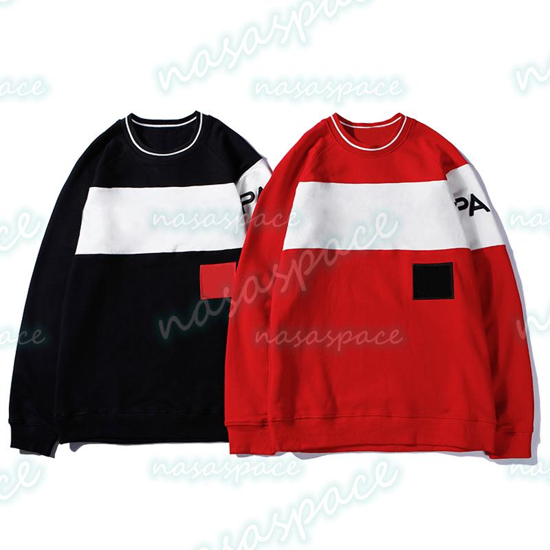 Sweats Hip Sweats Hip Sweat à manches longues Couples Pull Sweat Sweat-shirt Black Red Hommes Femmes Hoodie Taille M-2XL