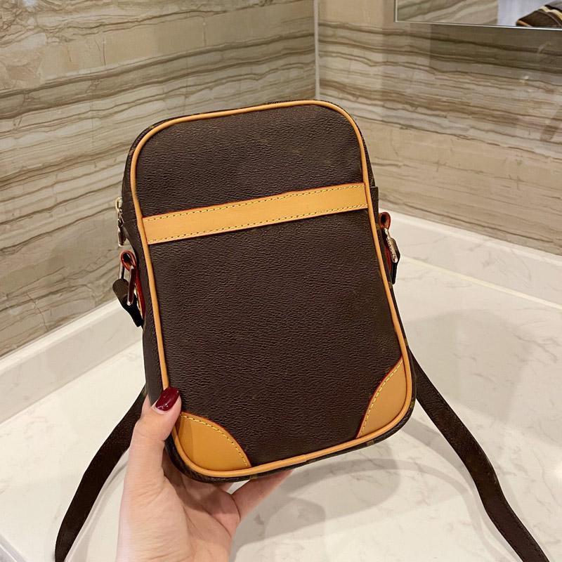 Men Bag Classic Messenger Bag Mens Handbag Purse Old Flower Genuine Leather Crossbody Shoulder Bags Mens Tote Wallet Phone Bag Clutch