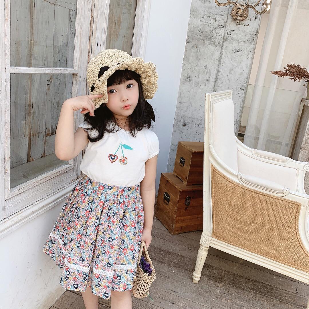 2Pcs/Set Toddler Infant Baby Girl Designers Clothes Kids Girls Set Short Sleeve Autumn T-shirt Tops+Mini Skirt Outfit Kid Dress