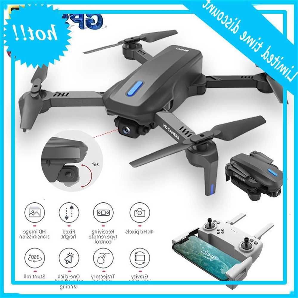 Novo Drone GPS conheceu WiFi FPV 4K Grofoek HD Câmera MV Altura Profissional Quadcopter RC Dron Helicóptero
