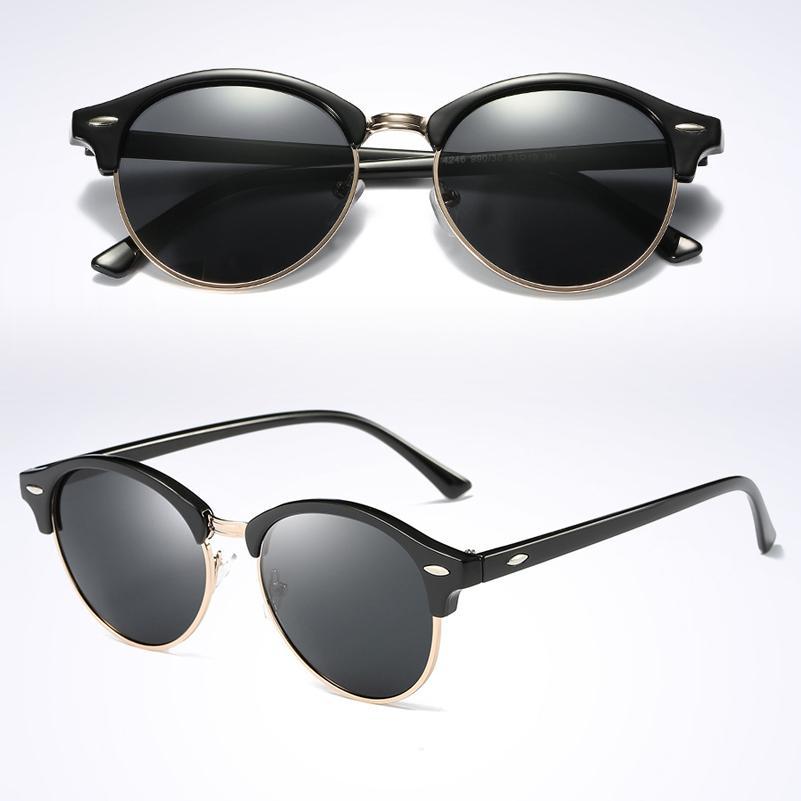 Sunglasses Men Brand Designer 2017 Luxury Quality Round Vintage High Ray Sol Glasses Women De Sun Polarized Classic UV400 Pmahs
