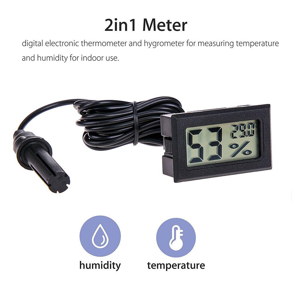 Mini comodo termometro Digital LCD Sensore del sensore Igenedrometro Italiano Frigorifero Acquario Monitoraggio Display Detector di umidità