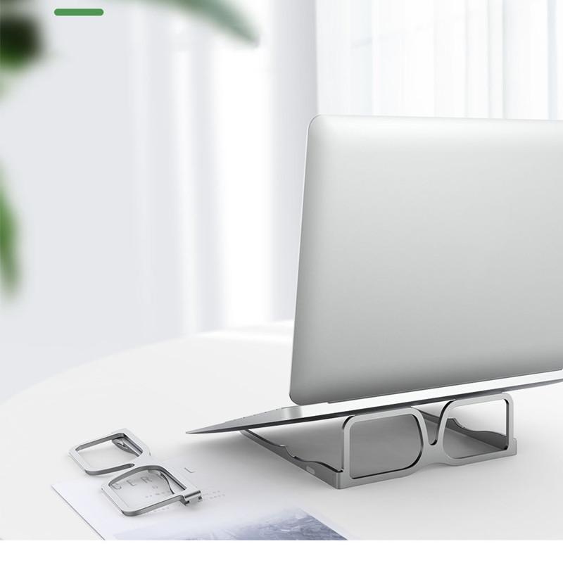 Aleación de aluminio portátil soporte computadora que realice un soporte para el soporte de la computadora creativa de la competencia de enfriamiento del soporte plegable de la tableta de la tableta de la tableta de los soportes envío gratis