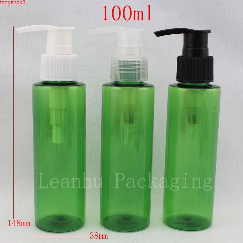 100 мл 50 шт. / Лот DIY Пустой Зеленая бутылка для домашних животных с насосом, лосьон насоса 100cc, косметический контейнер, для косметической упаковки