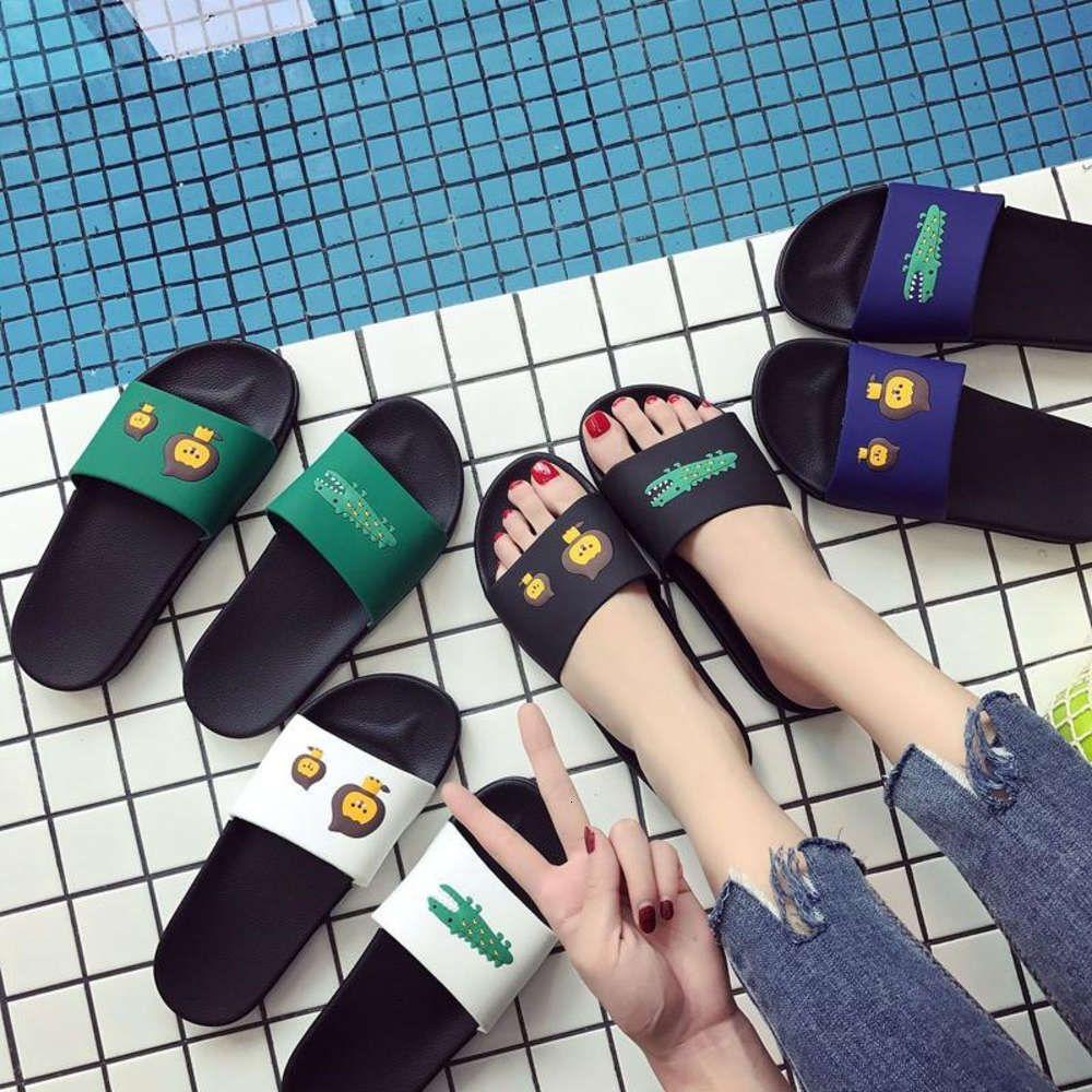 Ebeveyn Çocuk Ayakkabı Sevimli Kadın Severler Bir Karakter Terlik 2021 Yeni Ev Banyo Çocuk Terlik Yaz Yaz