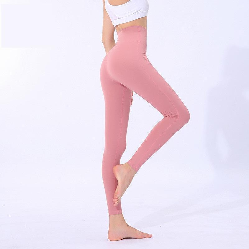 YOGAWORLD YOGA Hohe Taille Strumpfhosen Frauen Fitness Laufende Yoga Hosen Stretch Slim Sweat-Saugbent Schnelltrocknende Hose Yogaworld