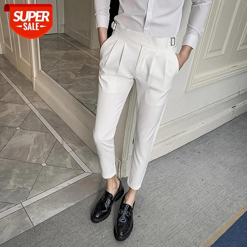 Masculinas белые свадебные платья брюки для мужчин деловой костюм падает повседневная стройная подходят формальные брюки панталон костюм мужские костюмы брюки # K00W