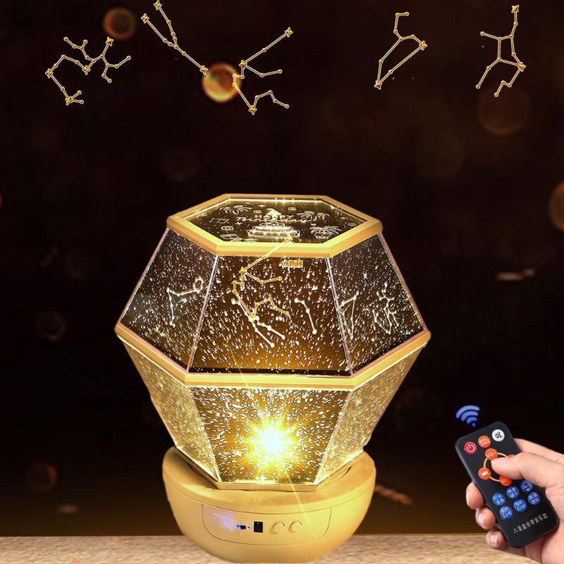 Night Light Leed Starry Galaxy Projector Night Lamp Rotation Astronomical Sky Проекционная лампа для домашнего планетария подарок на день рождения