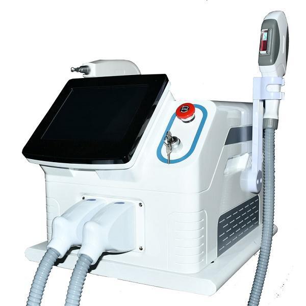 PROFESIONAL OPT IPL SHR E Light ND YAG Máquina láser 1064nm 532nm 1320nm Eliminación de cabello / Tatuaje Equipo de salón de belleza para uso en el hogar