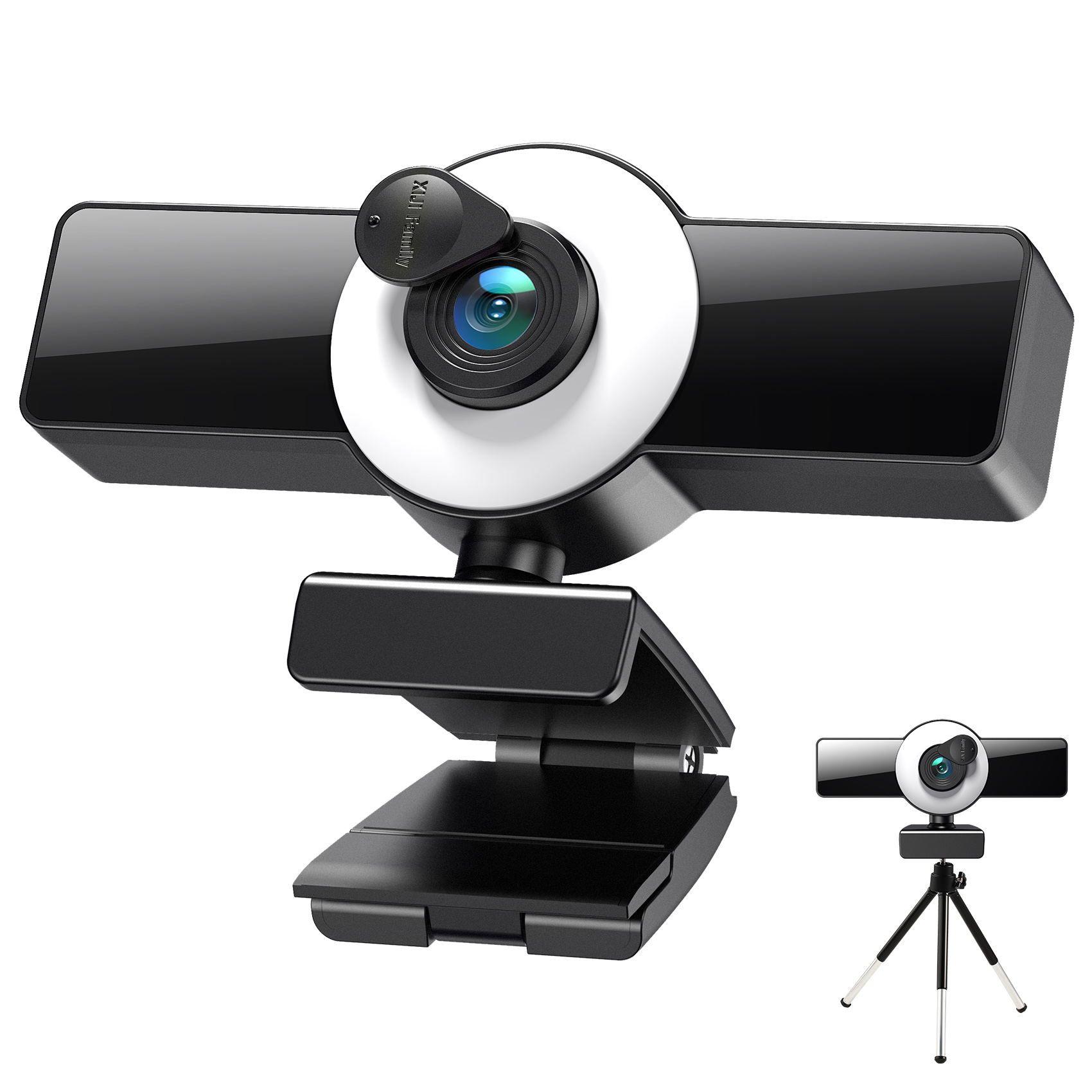 Веб-камера 8K 4K 2K 1K Autofocus Web Cameras с микрофоном Светодиодный заливной светильник мини-камера для компьютерной конференции компьютера Mac YouTube Live 8809