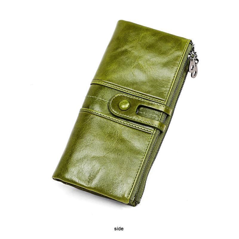Bolsa carteira multifuncional senhoras carteira moeda longa couro owcdj