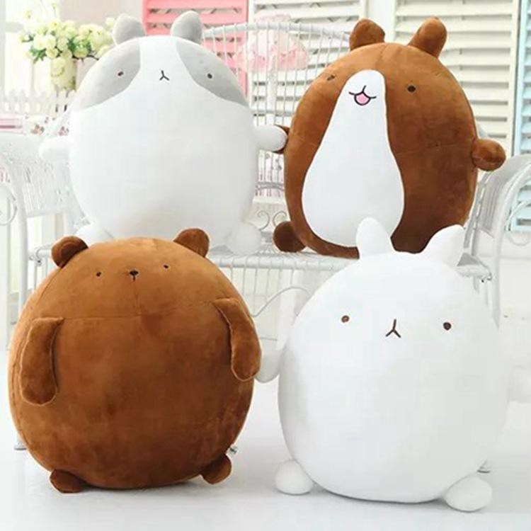 25-55cm Big size Cute Molang Rabbit potatoes bear Plush Toy Stuffed Rabbit Molang Teddy Bear Doll Kids Toy Girl's Christmas Gift Q0113