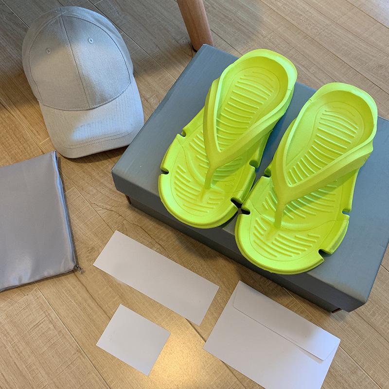 Womens Sandal Sandal Summer Slippers Ladies Flip Flops Lofers Outdoor Home Slides Chaussures Sapatos com Caixa 35-40