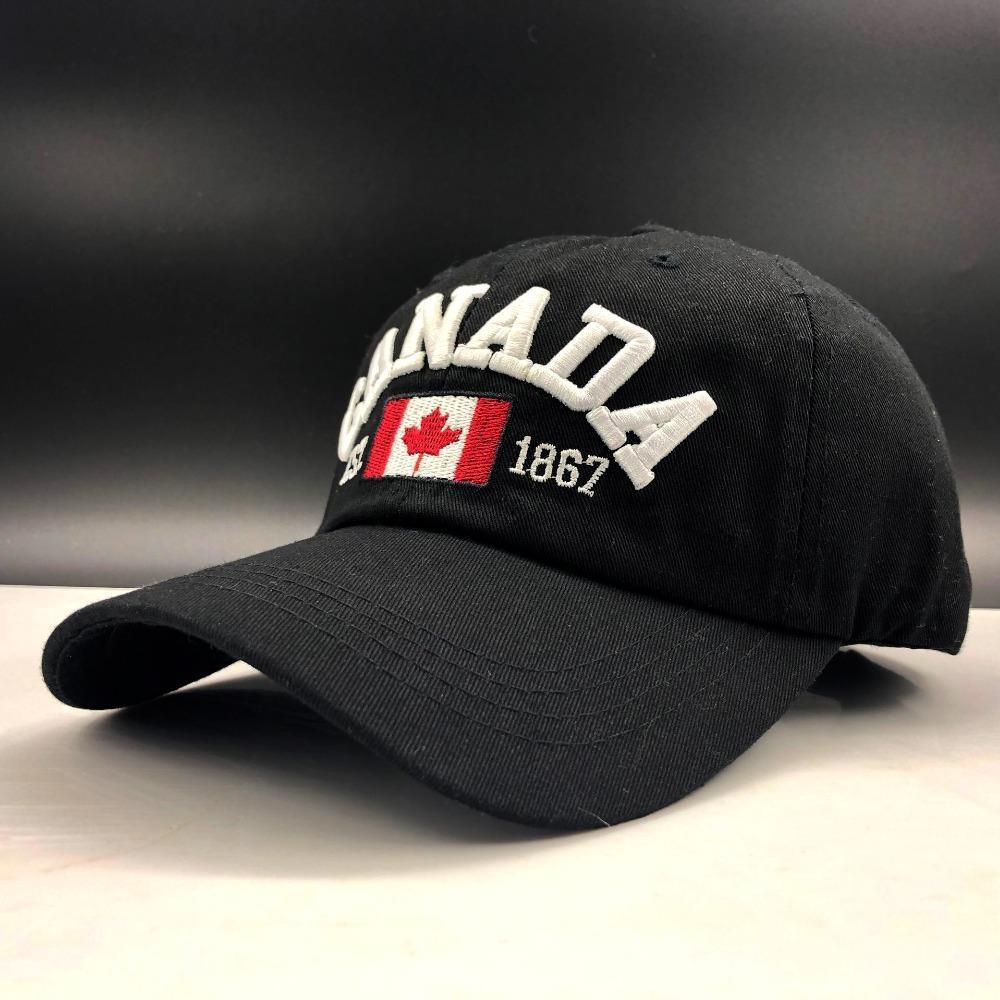 Jiangxihuitic 2019 Hot Semplice Canada Lettera Ricamo Cappellini da baseball Cappello Snapback per uomo Donne Cappello per il tempo libero Cappello all'ingrosso