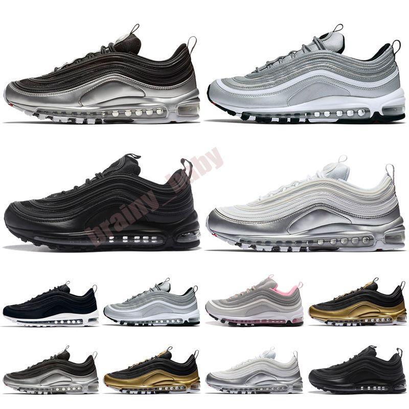 2021 NUEVOS NIÑOS Zapatos para hombre de primera calidad Triple Triple Negro Blanco Reflexivo Criado Juego Royal Hombres Mujeres Deportes Zapatillas 28-35
