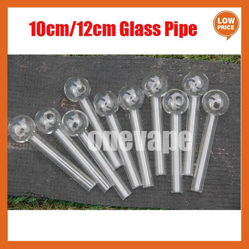 QPSOMK 4,8 дюйма 12 см / 10 см. Очистить мешок Pyrex Стеклянная горелка для горелки прозрачной трубки трубы курительные трубы
