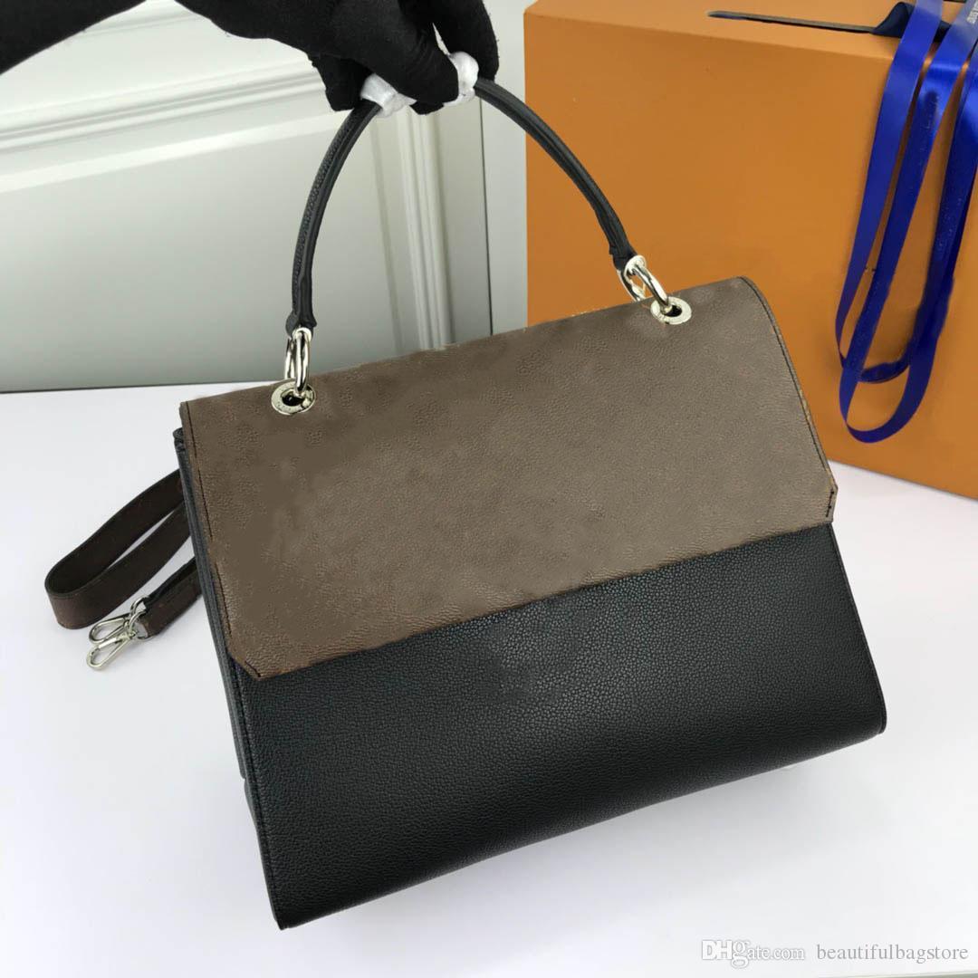 Luxurys Diagonal L Style Style Designer Designer Borsa a spalla Tutte le borse di corrispondenza Borse in pelle naturale Materiale 41492 TGWVN