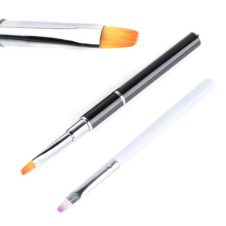 Çift Başlı Nail Art Akrilik Fırça Spatula Tırnak UV Jel Uzatma Oluşturucu Çizim Kalem Fırçalar Sopa Manikür İpuçları Araçları TR1590