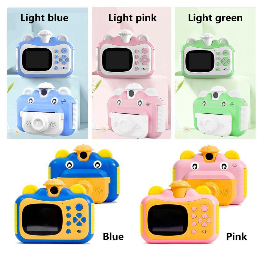 1080P Цифровая фото Видеокамера 2.4 дюйма IPS Screen Детская мини-камера для детей мгновенный Печать подарок на день рождения для ребенка