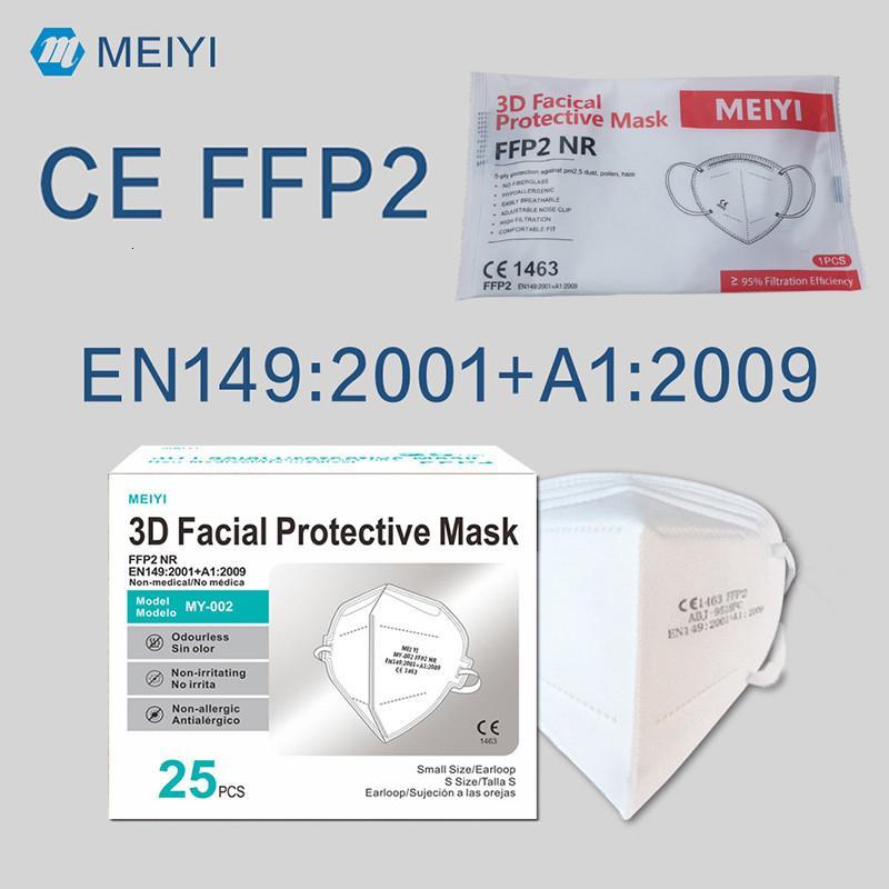 FFP2 Máscara CE Certificado Maske EU Whitelist Mascarilla Cara PM2.5 Anti-niebla Haze e influenza Mascarilla Reutilizable 5 capas Mascherina
