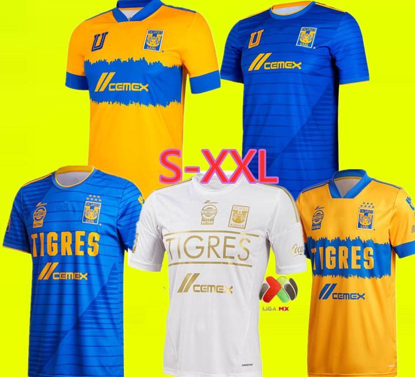 2021 Tigres Soccer Jerseys Home Away Pizarro 19 Salcedo 3 Lopez 11 Carioca 5 Aquino 20 Quinones 23 Vargas 9 20 21 Jersey Football Shirts