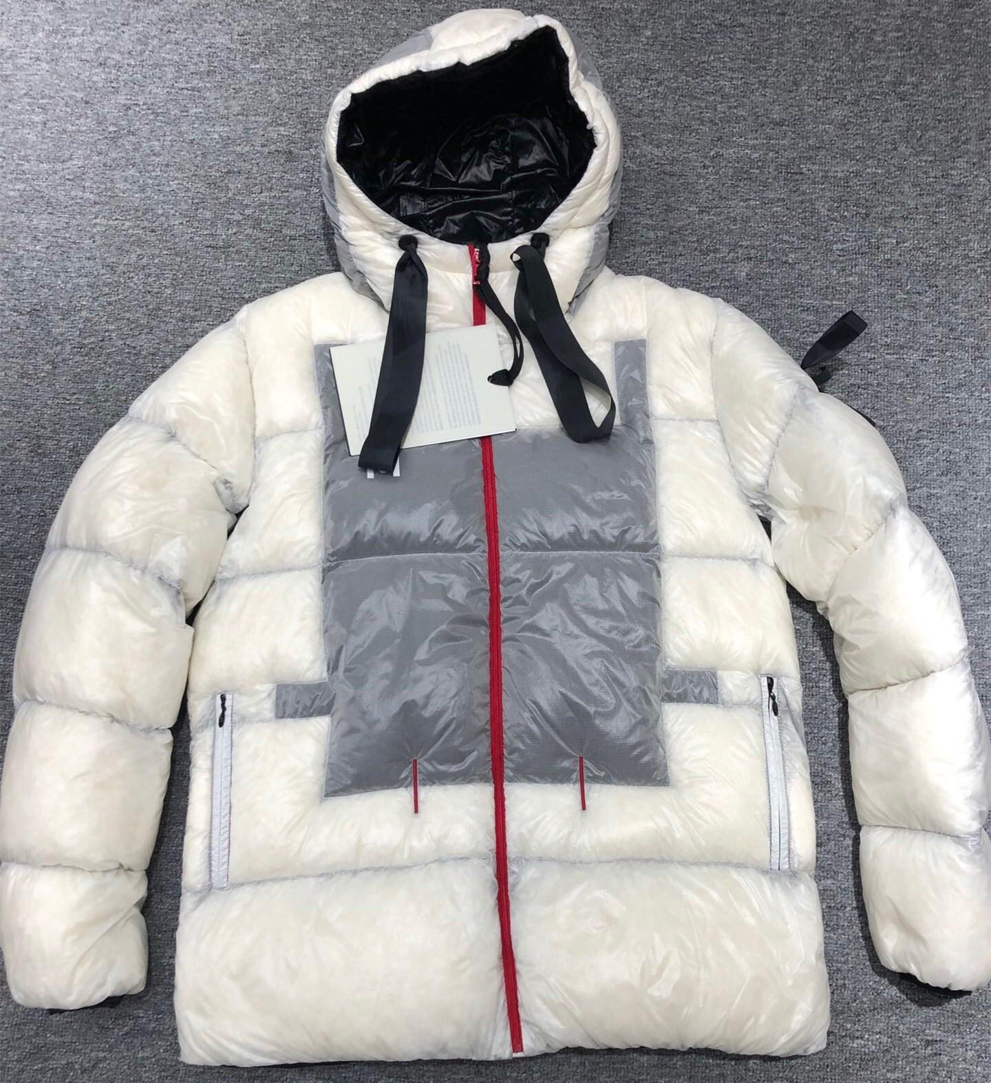 Erkekler Naylon Kısa Aşağı Ceket Kış Moda Erkek Sıcak Kapüşonlu Fermuar Spor Beyaz Ceket