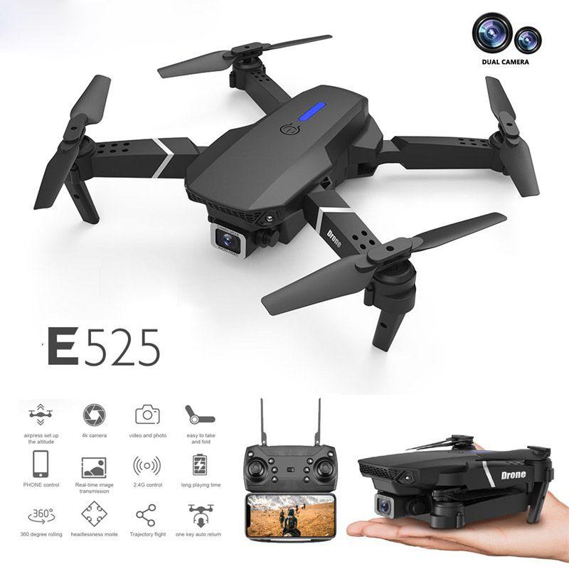 Dropship LS-E525 DRONE 4K HD Doppellinse Mini Drohne WIFI 1080p Echtzeitübertragung FPV DRONE Dual-Kameras Faltbar RC Quadcopter Geschenk Spielzeug