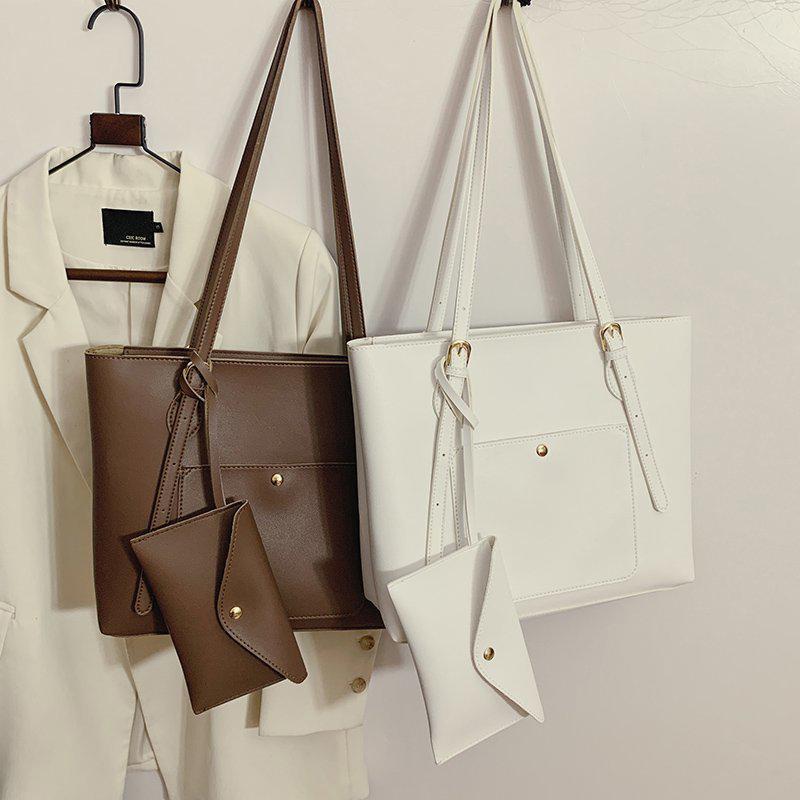 Große Frauen Designer Leder 3 stücke Damen Luxus Handtaschen Schulter Mode Kapazität Unterarm Tasche Weibliche Reisetaschen Shopper Geldbörse TNGFW
