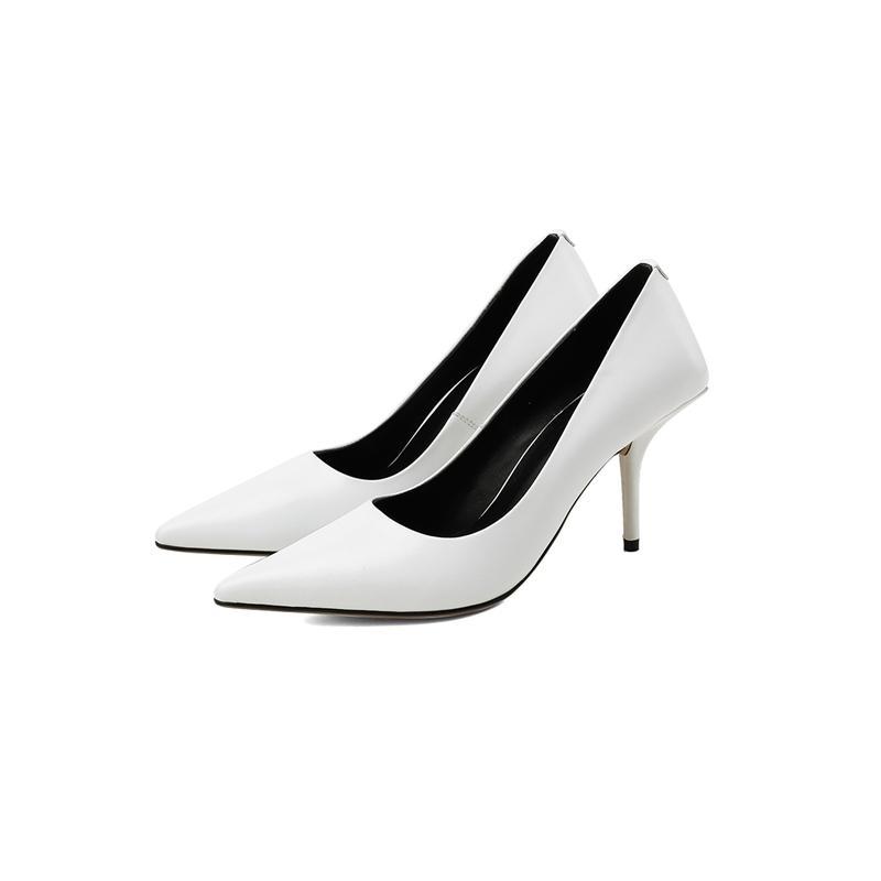 2021 Новые ручной работы черные кожаные женские насосы насосы из овчины супер высокие тонкие каблуки туфли элегантные заостренные носки офисные женские насосы