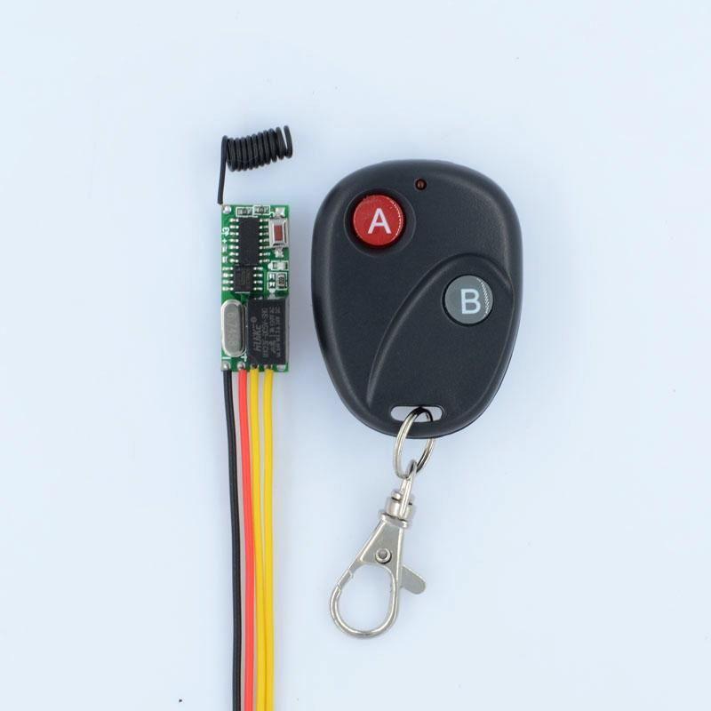 Smart Home Control Mini Remote Switch 3V 3.5V 5V 12V Micro Wireless Relay NO COM NC Small Receiver Transmitter Door Lock