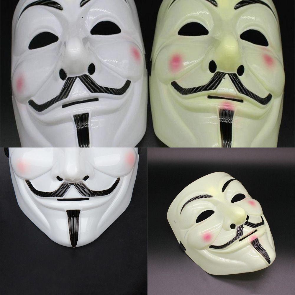 V Full Ball Anonymous Mascarada Decoración Cara Halloween Vendetta Valentine Super for Party Mask Masks Scary Bbygk WRH