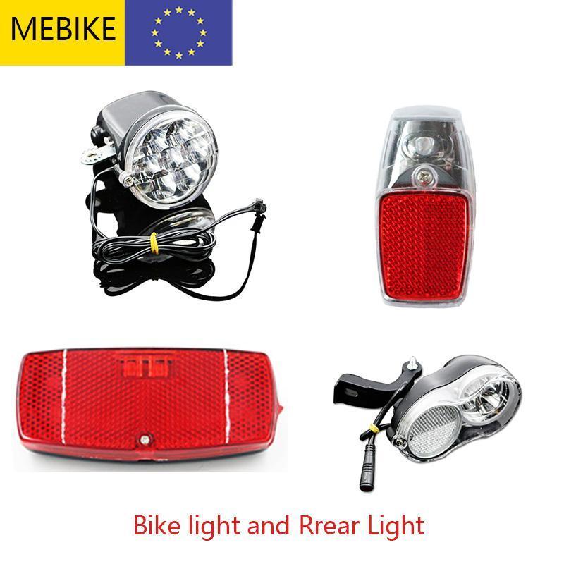 Lumières de vélo Ebike Vélo Light Electric Repluée Arrière-rack Carrier LED Réflecteur Lampe de garde-boue 6V 36V 48V Accessoires