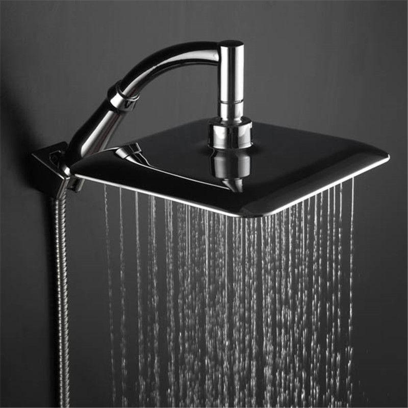 9-дюймовый вращение 360 градусов ванной комнаты для ванной комнаты для душа головной головной головки ABS Chrome Water Easking Душевая рука рукой рукой удерживается голова для душа 210309