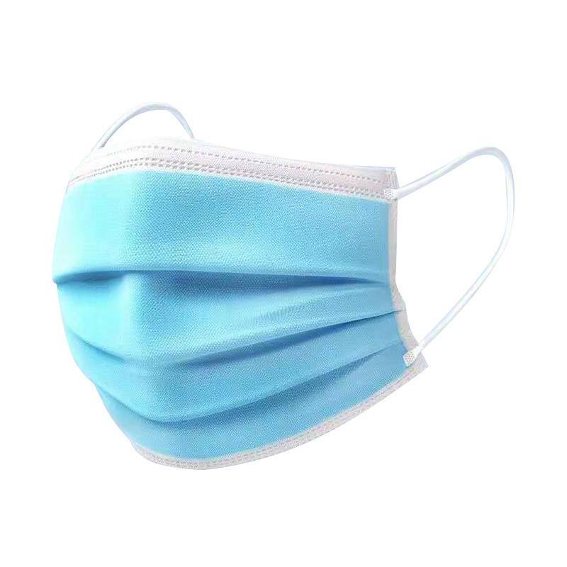 In magazzino Nero Black Blu Bianco Blu Adulto Maschera viso Monouso Adulto Maschera esterna sanitaria protezione a 3 strati