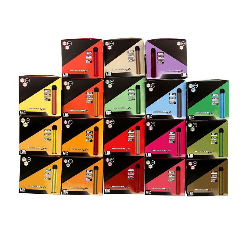 Bang XXL Tek Kullanımlık Cihazı 800 mAh Pil 6 ml Pod 2000 Puffs Xtra Kits Vape Kalem VS Bar Artı XL Randm Dazzle Pro Iget
