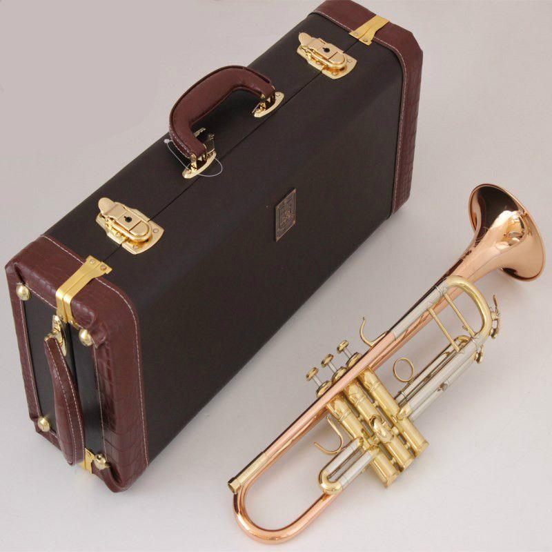 Stradivarius جديد البوق LT180S-72 ب شقة الفسفور النحاس المستوى المهنية البوق الآلات الموسيقية مع حالة الفم