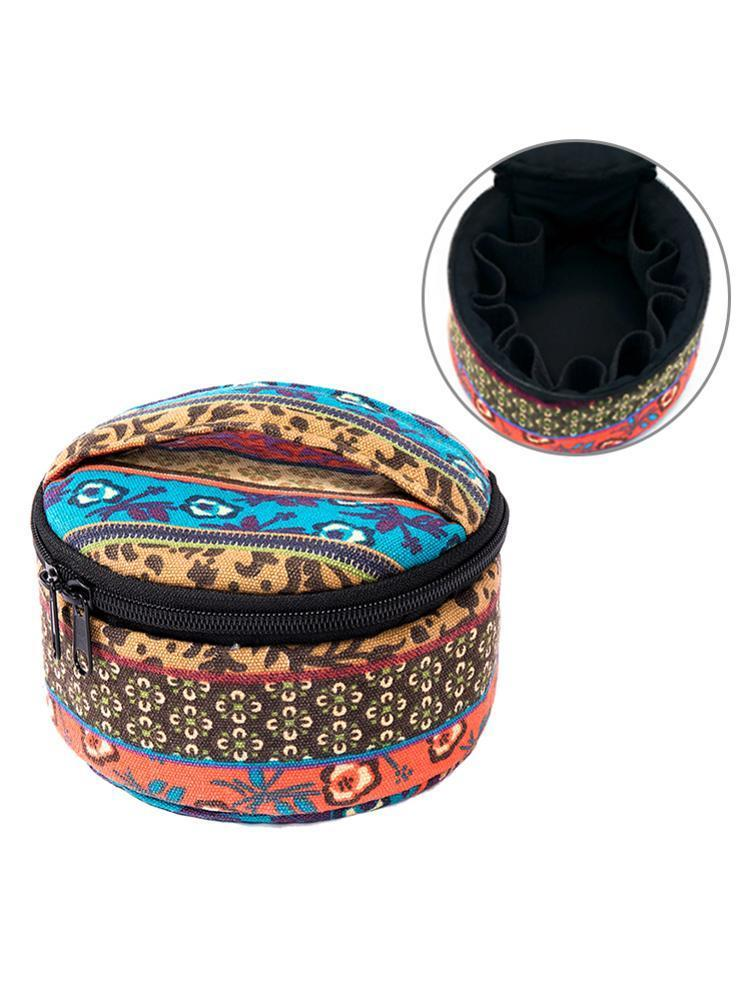 Storage Bags 15 Grids Nail Polish Bag Cosmetic Essential Oil Perfume Handbag Double-Layer Portable Lipstick Organizer Box Holder