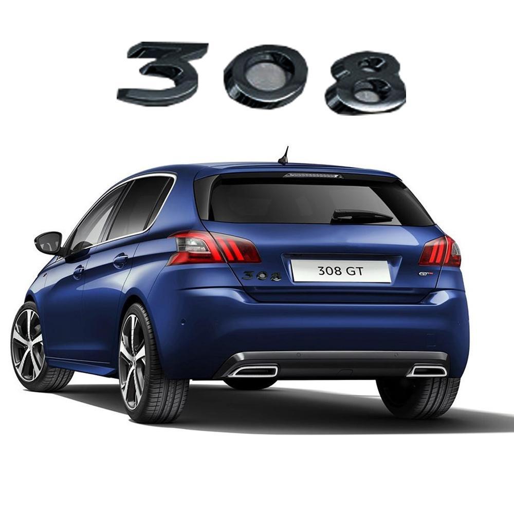 Черный ствол наклейки для Peugeot 308 208 408 508 301 206 207 306 3008 2008 5008 4008 GT Peugeot наклейка заднего наклейки наклейки ABS