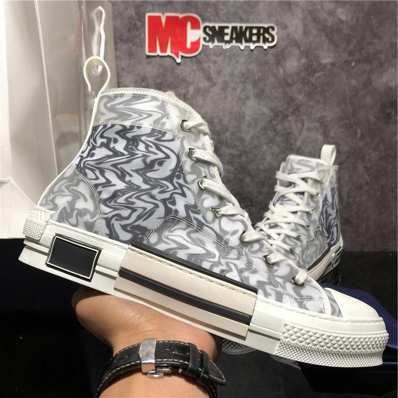 En Kaliteli B23 Eğik Erkek Kadın Tasarımcılar Rahat Ayakkabılar Sneaker Moda Çiftleri Açık Platform Teknolojisi Yumuşak Tuval Eğitmenler Sneakers ile Kutusu Boyutu 36-46