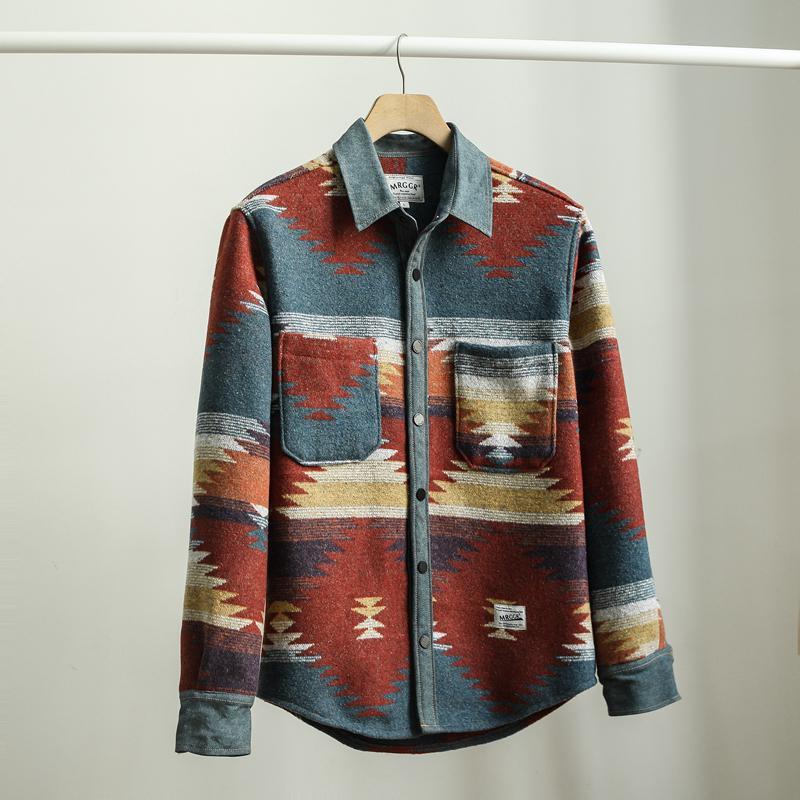 Kalite! erkek sonbahar iyi kış kalınlaşmak rahat moda erkek ekose ince gençlik erkekler uzun kollu sıcak gömlek t v7h3
