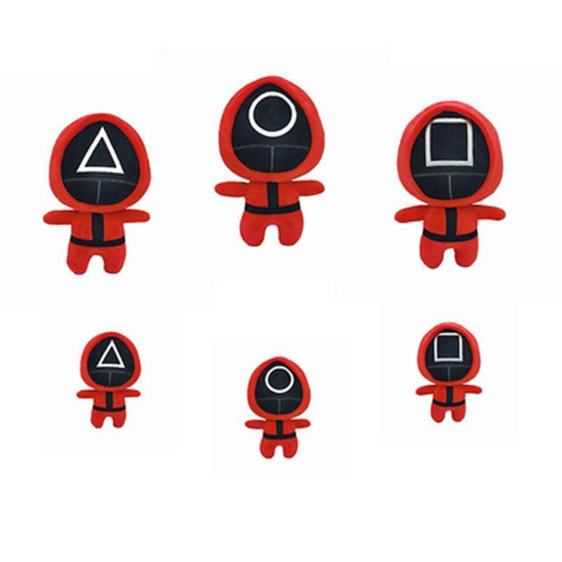 플러시 인형 오징어 게임 박제 장난감 한국 TV 오징어 게임 Plushies 인형 23cm 팬 크리스마스 아이 할로윈 선물 2021 New