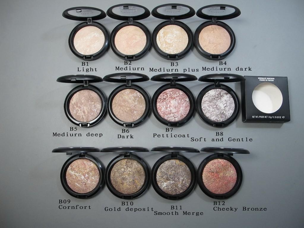 Wysokiej jakości B10 Złoto Depozyt Nowy Hot Makeup Mineralizuj Skinfinish Poudre de Face Proszki 10g