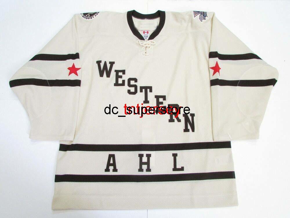 Dikişli Özel 2011 AHL All Star oyunu Hershey Western Jersey Herhangi bir isim ekleyin Erkek Çocuklar Jersey XS-5XL