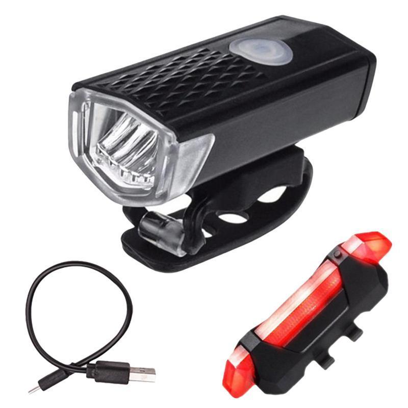 Lumières de vélo Vélo Light Étanche USB Rechargeable Reçage de la lampe de cyclisme de la lampe à la flamme