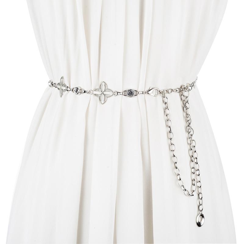 Cinture strass per le donne in metallo catena cintura decorazione abito vita banda ceinture femme femmina vita
