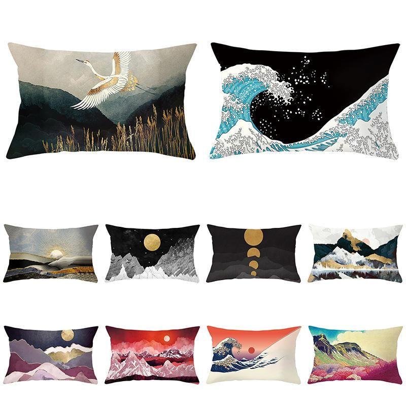 Kissen / dekorative Kissenlandschaft Einseitige gedruckte Pfirsich Hautabdeckung Rechteckiges Sofa kann angepasst werden