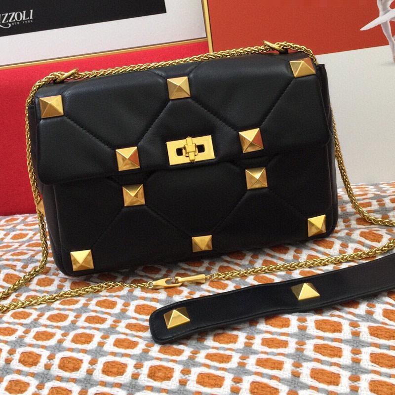 체인 플랩 백 메신저 가방 어깨 지갑 패션 리벳 골드 하드웨어 양피 정품 가죽 고품질 인테리어 지퍼