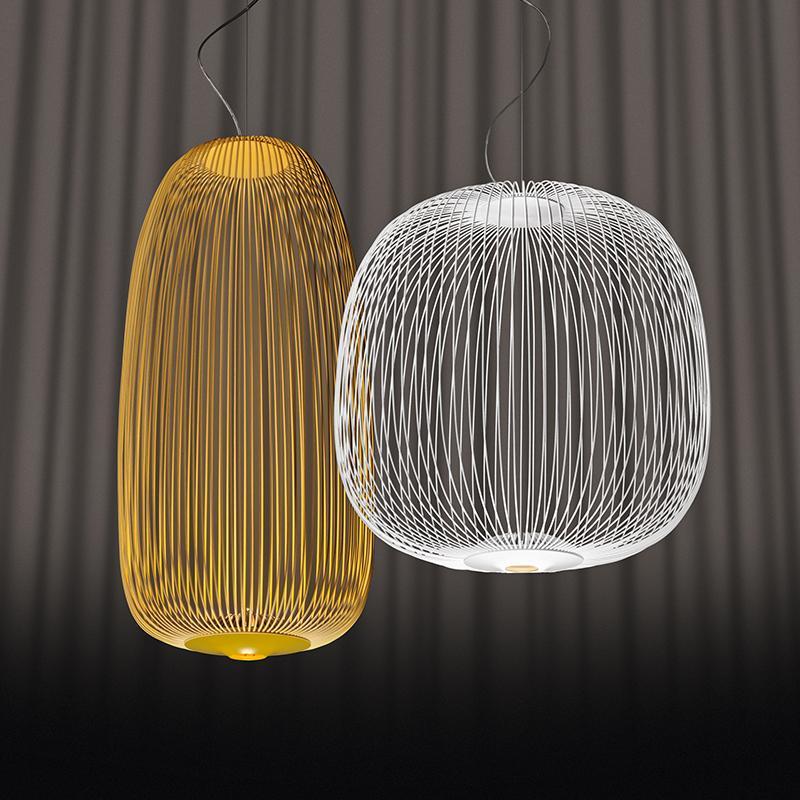 Foscarini 스포크 이분의 일 현대 펜던트 조명 금속 샹들리에 주도 서스펜션 램프 조명기구에 대한 이닝 거실 PA0185