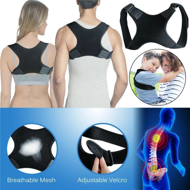 Corretor de postura da coluna que protege as costas e os ombros postura Correção cinto corcunda dor de apoio à dor